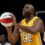 Magic Johnson Free Throw