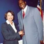 Magic Johnson and Nancy Pelosi