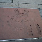 Adam Sandler Footprint on Hollywood Walk of Fame