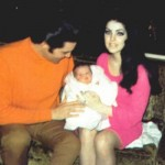 Priscilla and Elvis Presley with Daughter