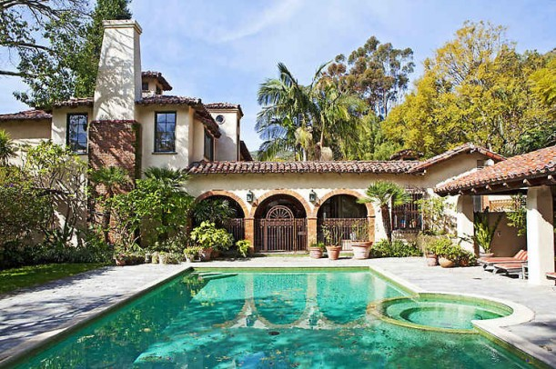 Mel Gibson House Backyard Pool