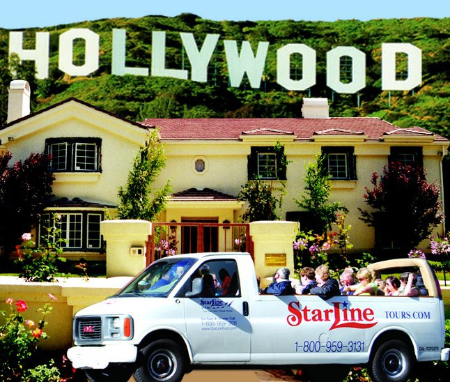 Starline tours of hollywood star map la city guide for Tour the stars homes in hollywood